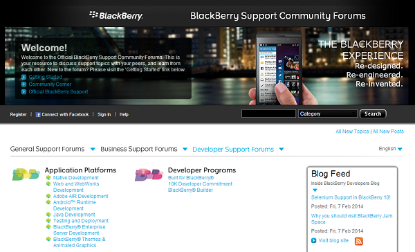 BlackBerry Support Forums