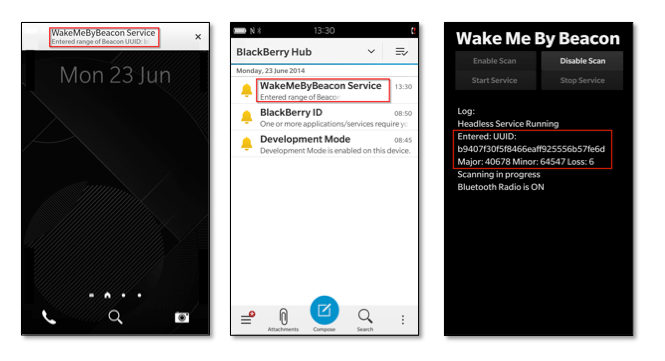 Wake Me By Beacon! Beacon Technology in a BlackBerry 10