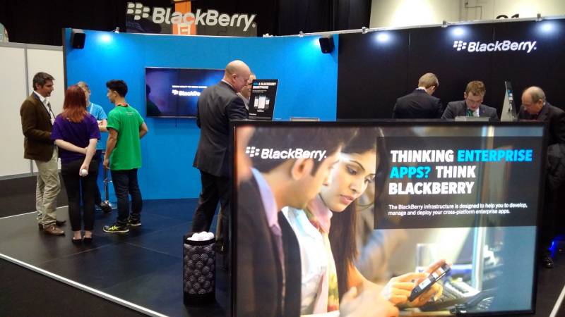 The BlackBerry Enterprise Development Stand, right next to the Enterprise World Theater.