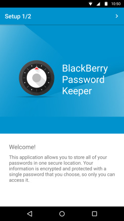 BlackBerry Password Keeper